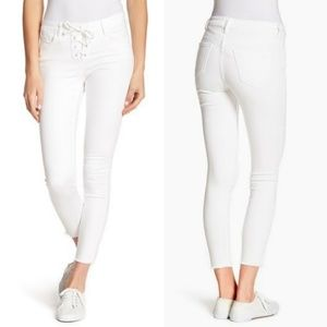 William Rast Ankle Skinny Lace-up Jeans
